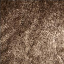 Tissavel Luxury Faux Volga Fur Metallic Gold Fabric