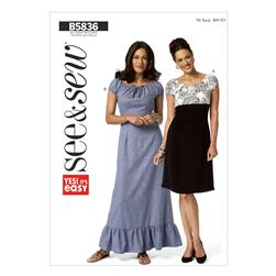 Butterick Misses' Dress Pattern B5836 Size 0A0