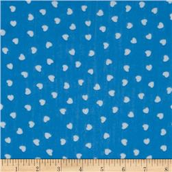 Yoryu Chiffon Small Hearts White/Blue