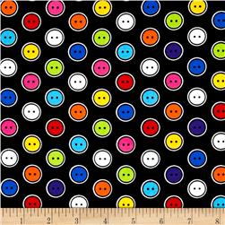 Kanvas Sew Easy Button Dot Black/Multi