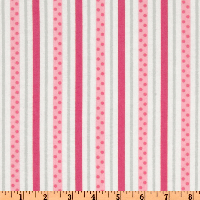 Cozy Cotton Flannel Dot Stripe Retro Fabric