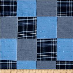 Robert Kaufman Plaid Patchwork Solid Blue