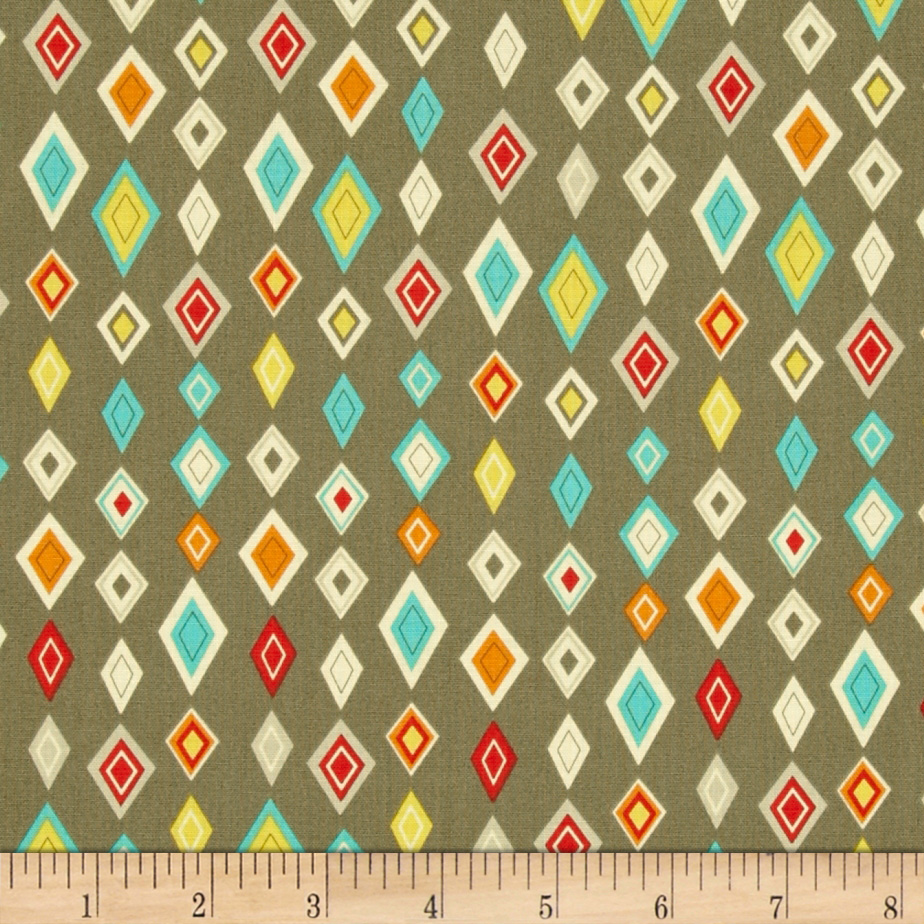 Riley Blake Boy Crazy Diamonds Grey Fabric