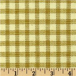 Primo Plaids Flannel Check Beige Fabric
