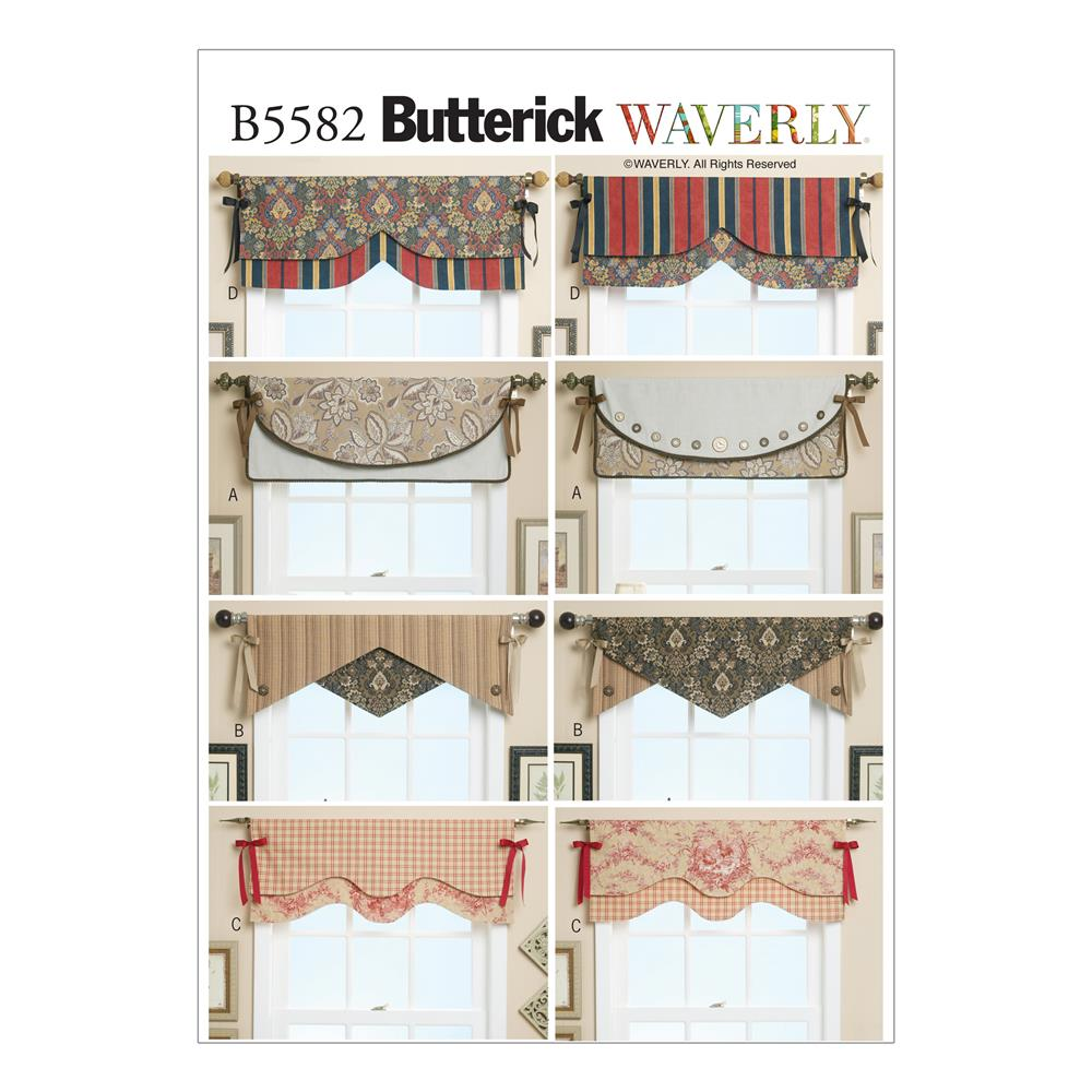 Butterick Reversible Window Valance Pattern B5582 Size OSZ