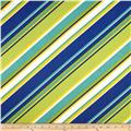 Richloom Solar Outdoor Browning Stripe Sunblue