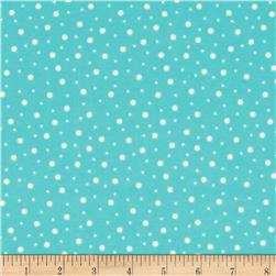Kimberbell Little One Flannel Too! Flannel Random Dots Teal White