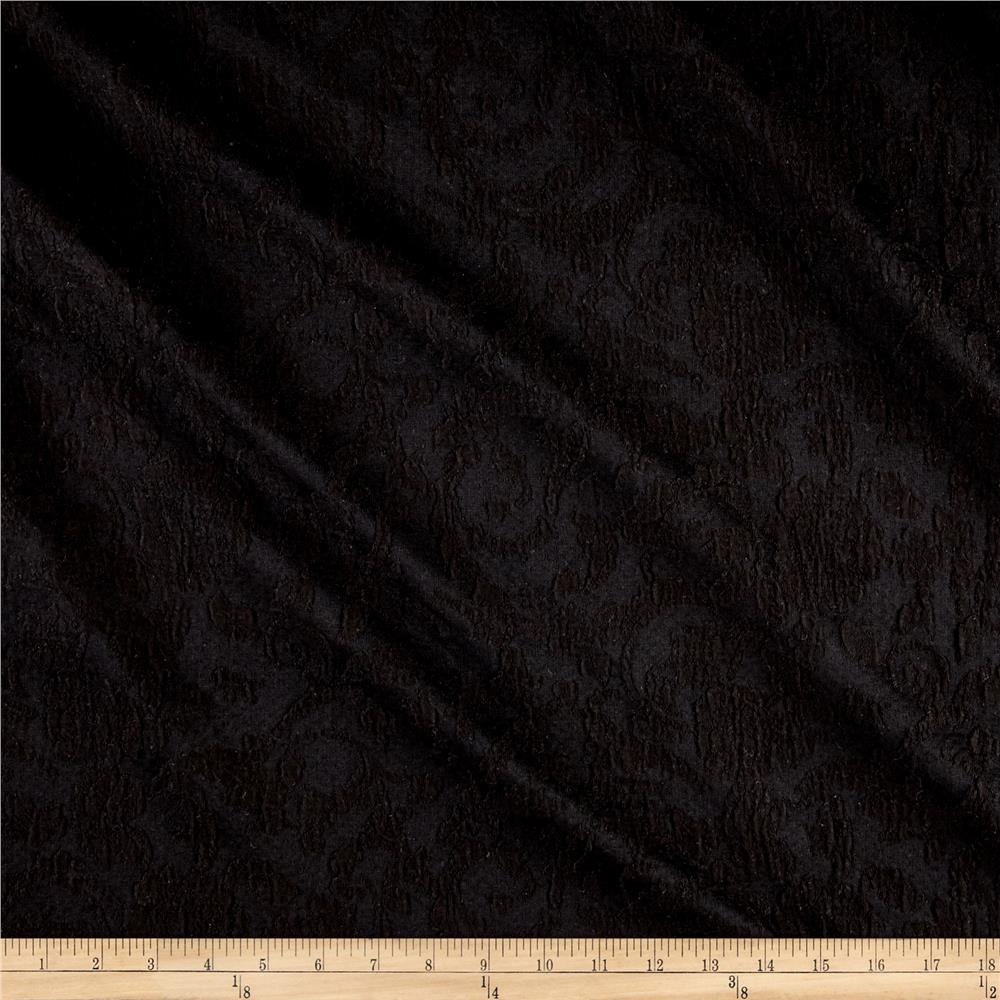 Jacquard Flourish Double Knit Black