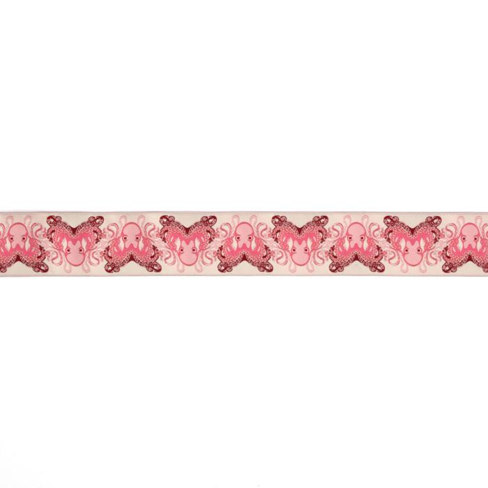 "1-1/2"" Tula Pink Octogarden Ribbon Pink"