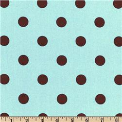Premier Prints Polka Dot French Blue/Brown