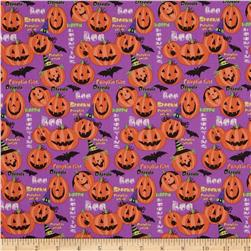 Horror Scope Jack-O-Lanterns Purple