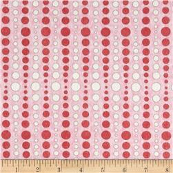 Moda Hugaboo Flannel Dot To Dot Twirly Pink