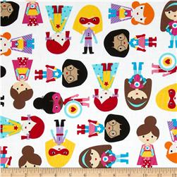 Super Kids Super Girls Primary Fabric