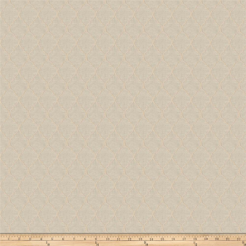 Fabricut World Class Embroidered Bisque