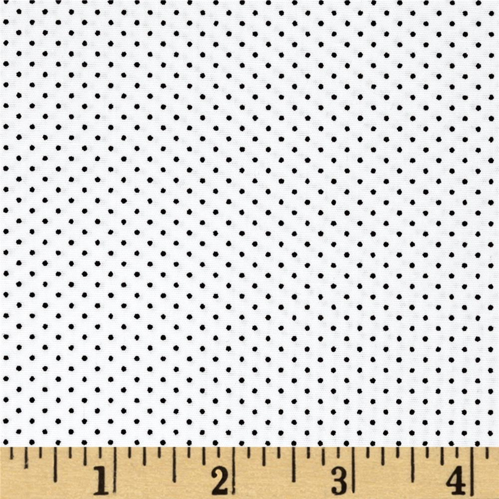 Kaufman Sevenberry Petite Basics Mini Dot Jet Black