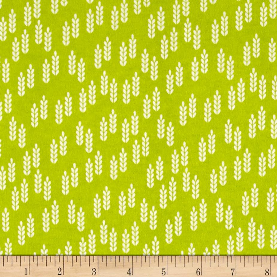 Comfy Flannel Wheat Sprigs Green