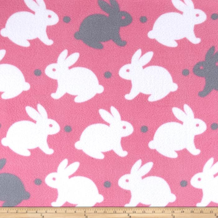 Simply Bedtime Bunny Pink/Gray