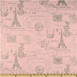 Premier Prints French Stamp Twill Bella Pink/Storm Fabric