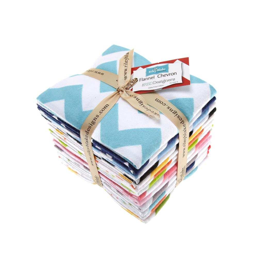 Riley Blake Flannel Basics Chevron Fat Quarter Assortment