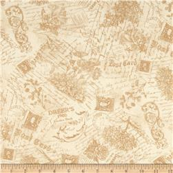 Flights of Fancy Toile Tan