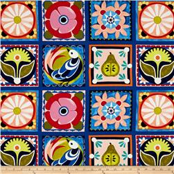 Michael Miller Valencia Spanish Tile Blue