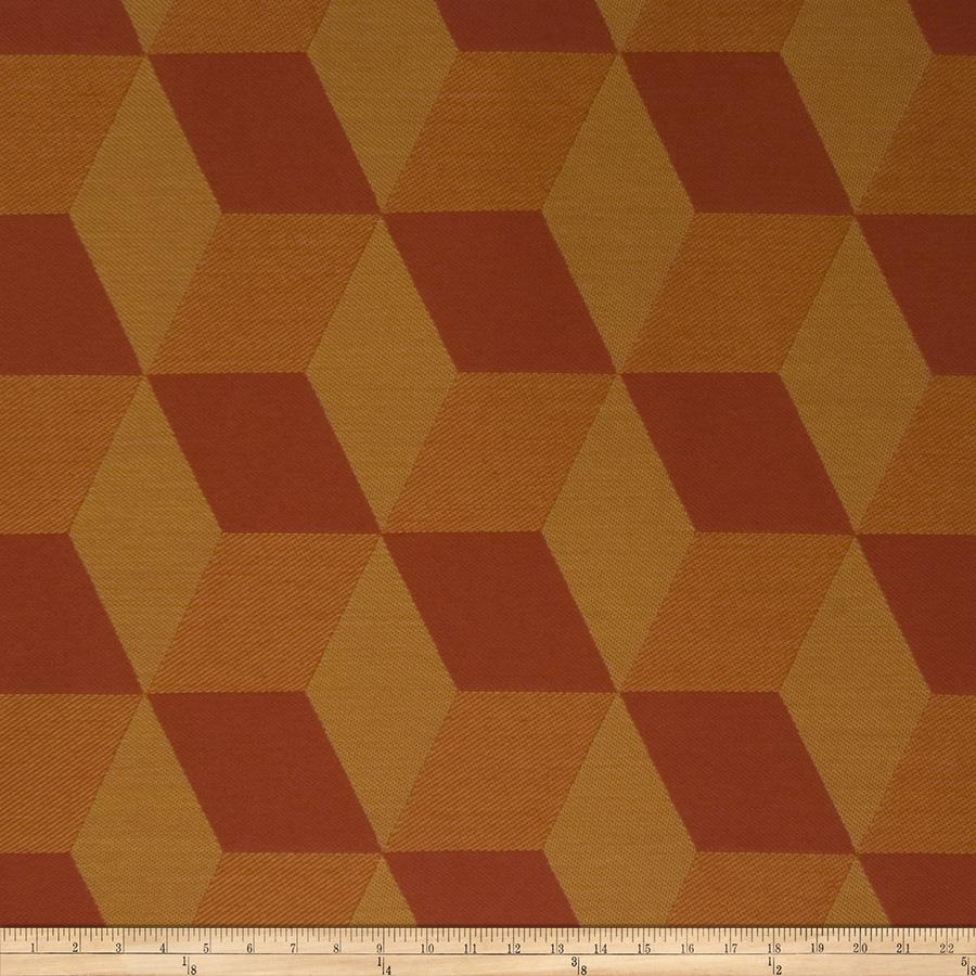 Fabricut Crypton Tetragon Orange Crush