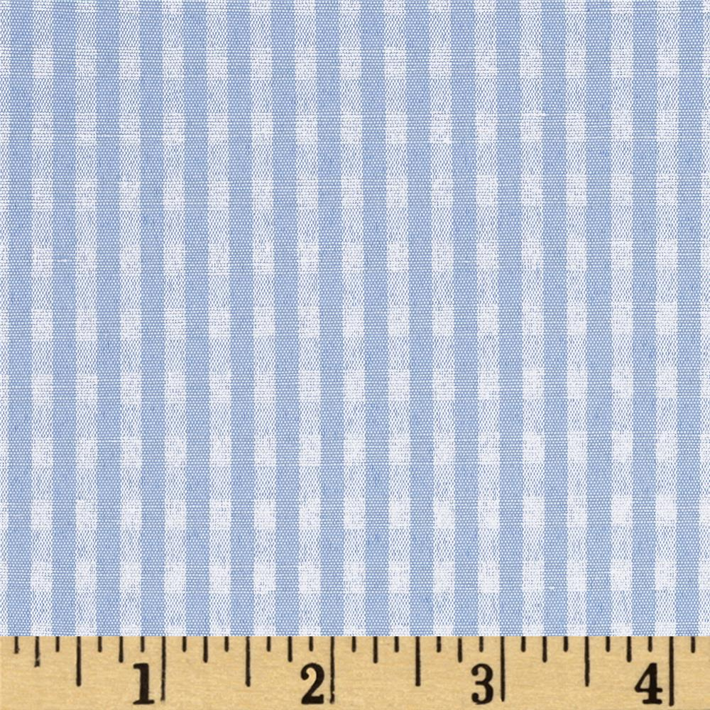 "60"" Cotton Blend Woven 1/8'' Gingham Blue"