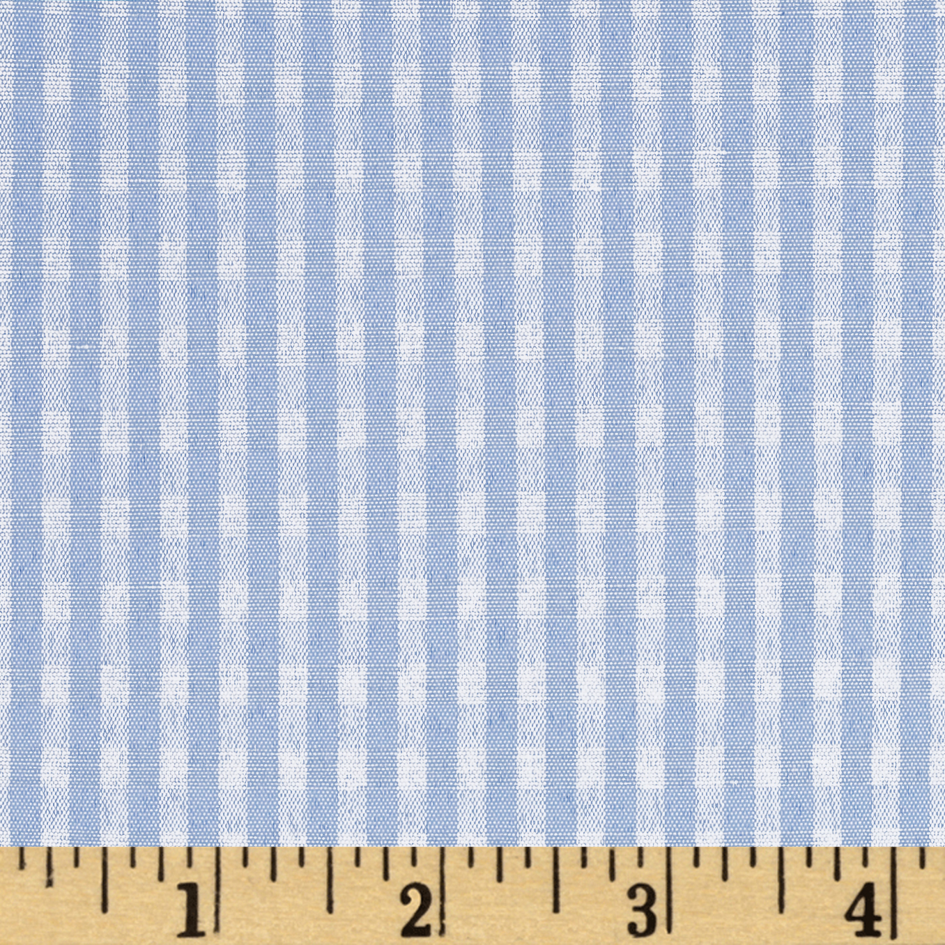 60'' Cotton Blend Woven 1/8'' Gingham Blue Fabric