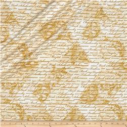 Kanvas Encore Metallic Composers Scroll Ivory