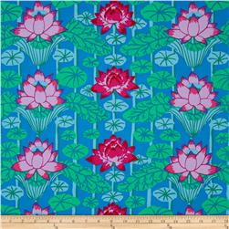 Kaffe Fassett Lotus Stripe Blue Fabric