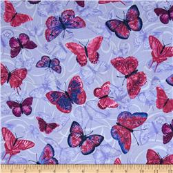 Orchid Shadows Butterflies And Swirl Lavender
