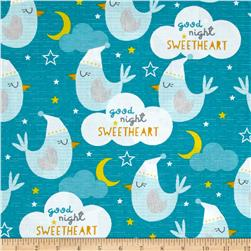 Wilmington Sweet Dreams Little One Good Night Sky Teal
