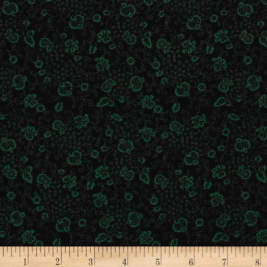 Lacey Floral Green