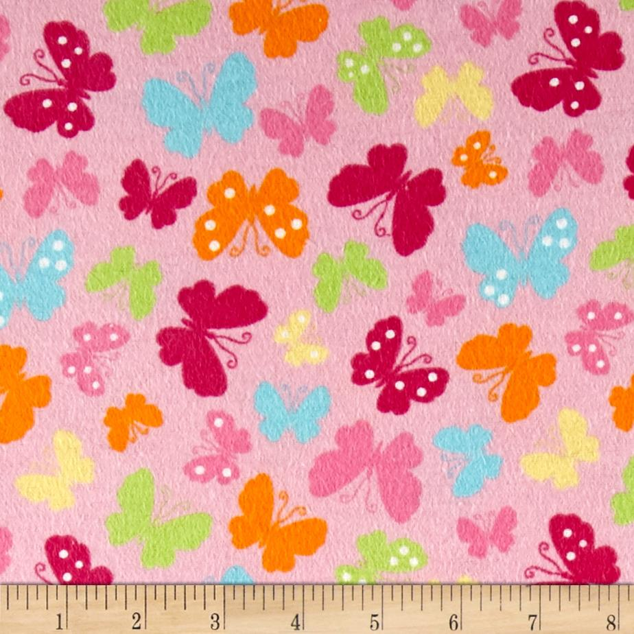 Pretty Wings Flannel Pink