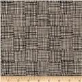 Maker Maker Linen Blend Grid Black