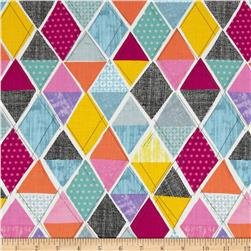 Timeless Treasures Field Study Triangles Multi Fabric