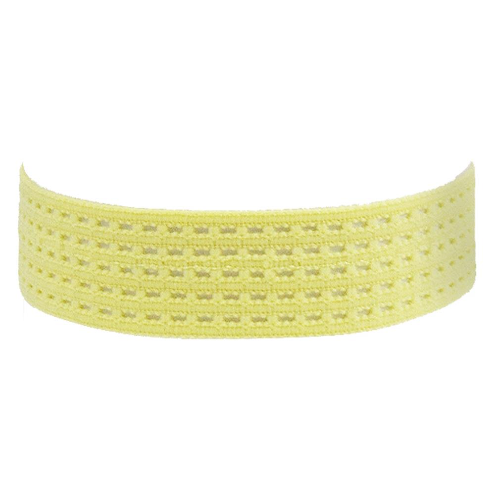 "1-3/8"" Stretch Perforated Headbands Light Yellow"