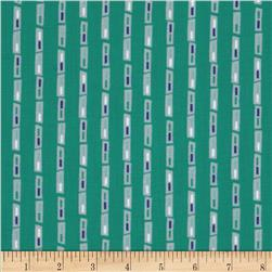 Geo Rectangle Stripes Turquoise