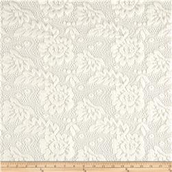 Lace Chenille Textured Abstract Ivory