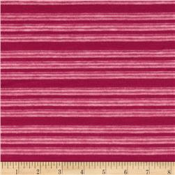 Stretch Shadow Stripe Hatchi Knit Raspberry