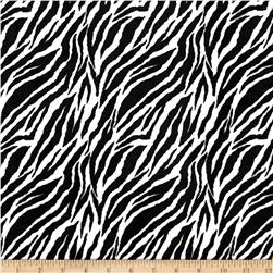 Minky Cuddle Baby Zebra Black/White Fabric