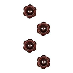 Riley Blake Sew Together 1'' Flower Button Brown