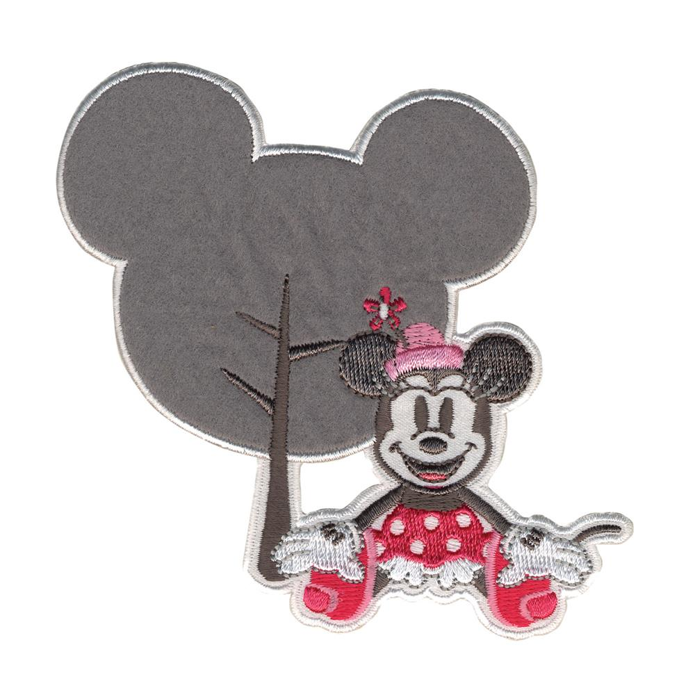 Disney Minnie Mouse Iron On Applique Minnie W/Silhouette