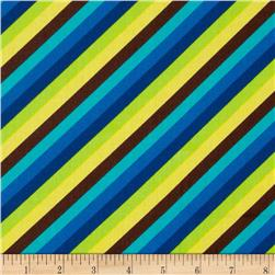 Diagonal Candy Stripe Blue
