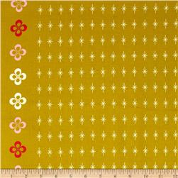 Cotton & Steel Mustang Single-Border Stars Gold Fabric