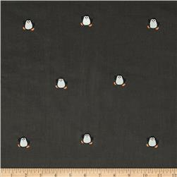 Embroidered 21 Wale Corduroy Penguin Graphite/White