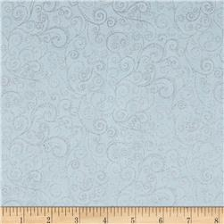 Holiday Accents Classics 2014 Swirl Metallic Aqua
