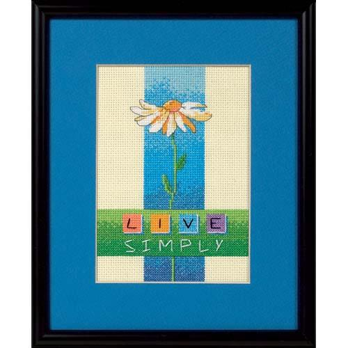 Dimensions Live Simply 5'' x 7'' Mini Counted