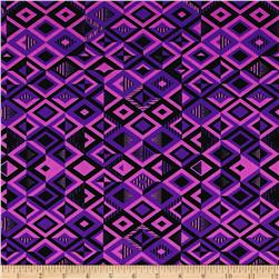 Driven Printed Athletic Knit Black/Purple/Orchid