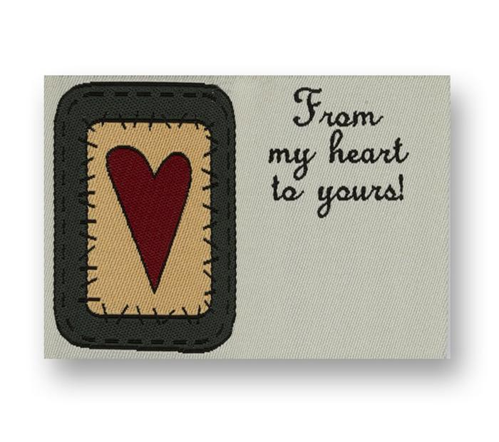 JHB Woven Label From My Heart (6436)